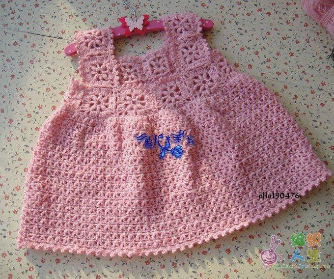 Trico y crochet madona m a vestido para bebe a crochet for Gancho de ropa en ingles