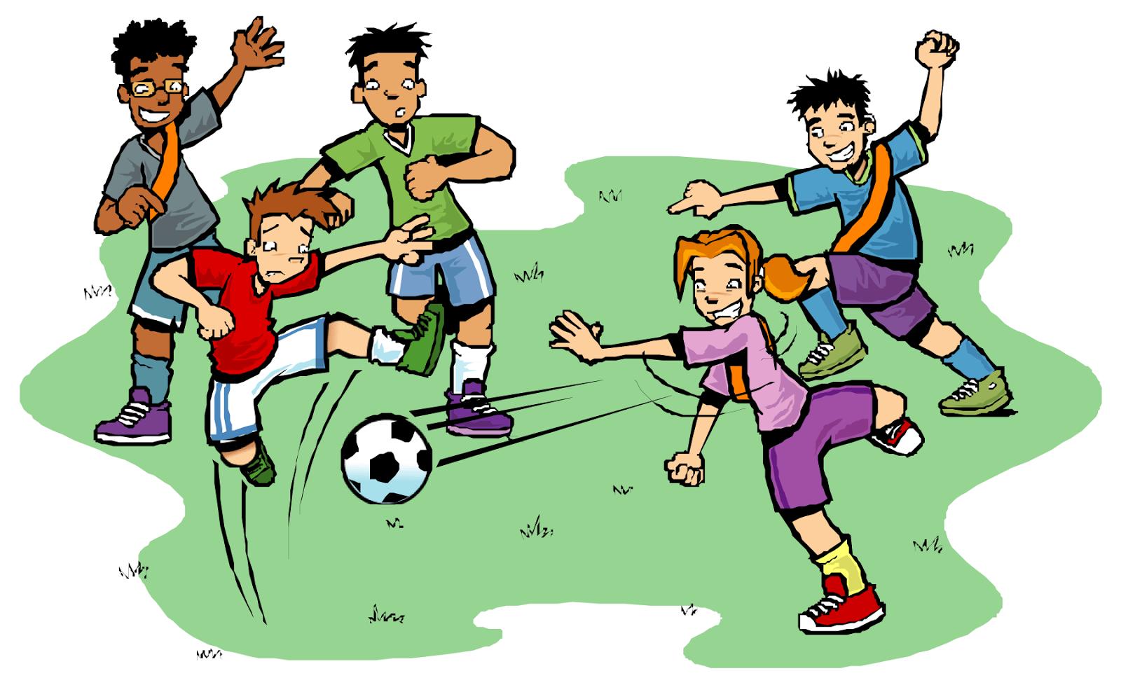 Kumpulan Gambar Kartun Orang Bermain Sepak Bola Terbaru Kolek Gambar