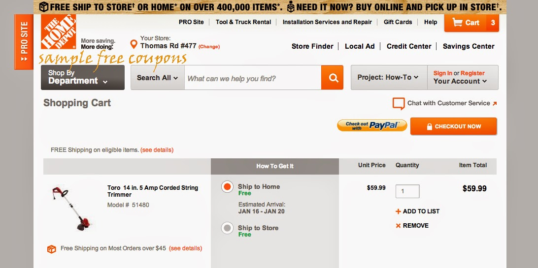 Coupon codes home depot