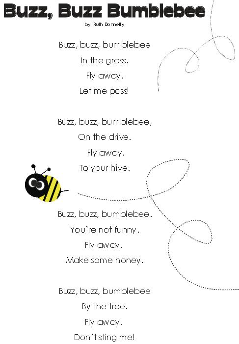 Baby potatoes: Buzz, Buzz, Bumblebee (Poem)