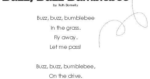 Baby Potatoes Buzz Buzz Bumblebee Poem