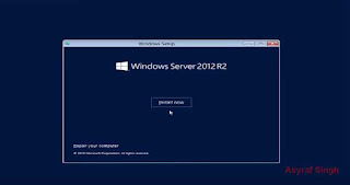 install Windows Server 2012 R2 HP Proliant ML10 V2 server.