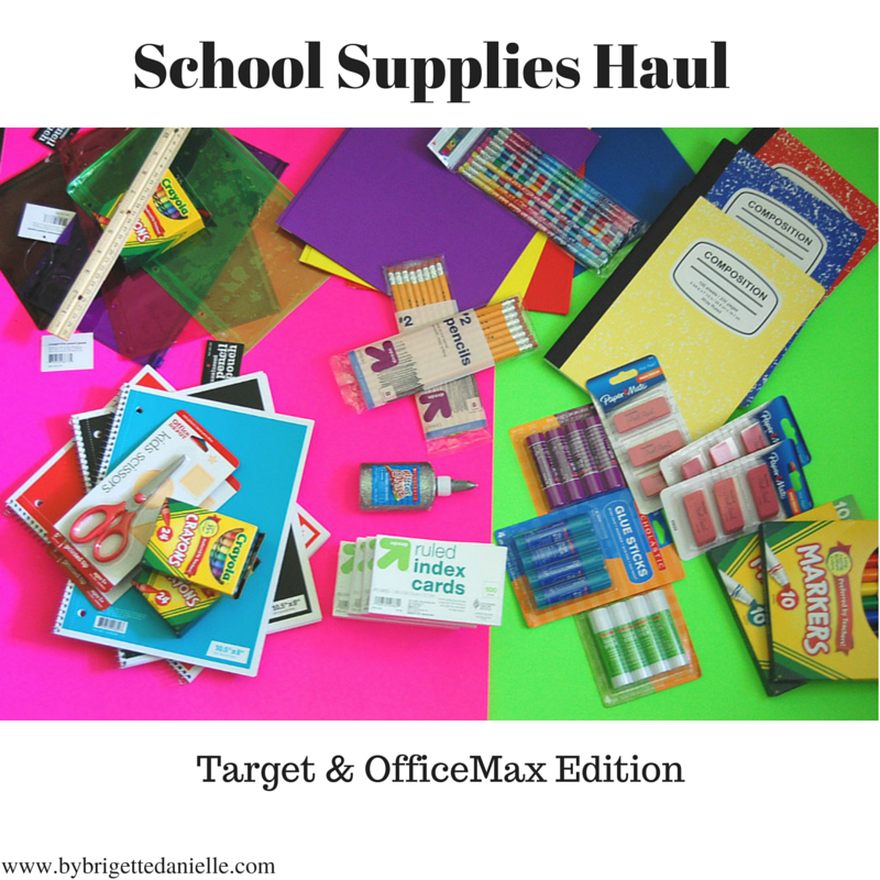School Supplies Haul! Target & OfficeMax Edition - By