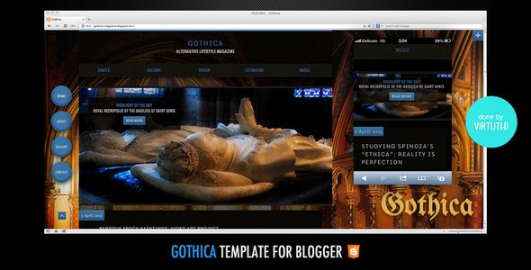 Download Free Gothica Blogger Template