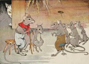 قصة اجتماع الفئران للتخلص من القط