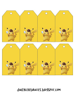 Fiesta Detective Pikachu: Mini Kit para Imprimir Gratis.