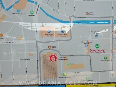peta penunjuk arah stasiun jakarta kota