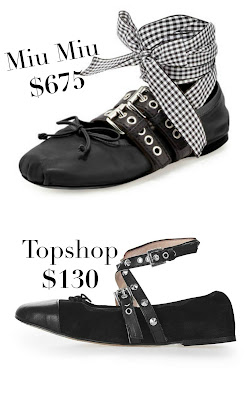 miu miu belted leather ankle ballerina alternative lookalikes, miu miu shoes for less_designer shoes lookalikes