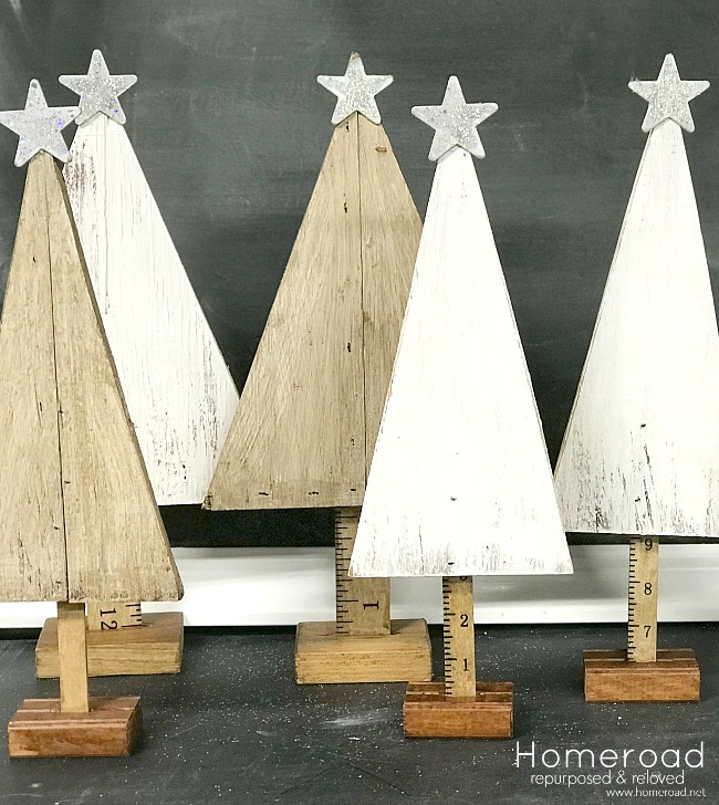 Rustic DIY Plywood Christmas Trees. Homeroad.net