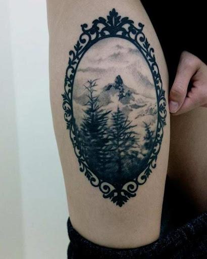 Majestosos e mágicas. Definitivamente, o que é uma floresta tatuagem É e DEVE SER.