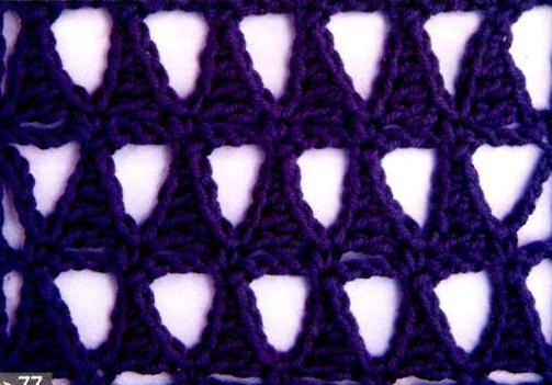 Patrón 960 Punto Calado a Crochet