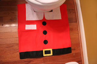 Christmas Santa Toilet Seat Cover 3