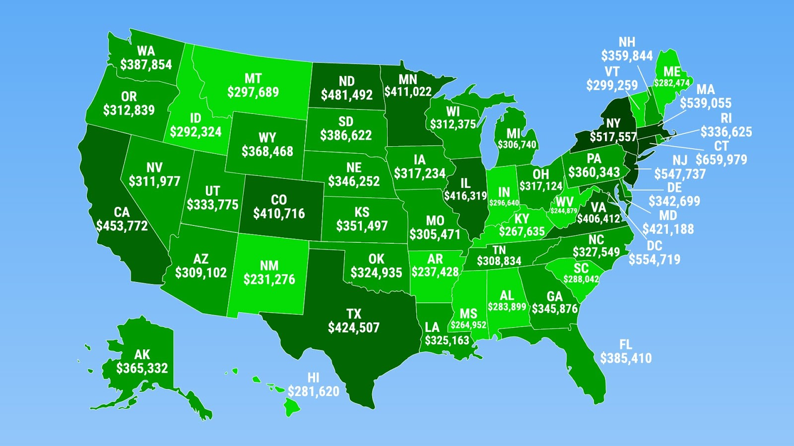 How much you need to earn to be in the top 1% of every U.S. state?