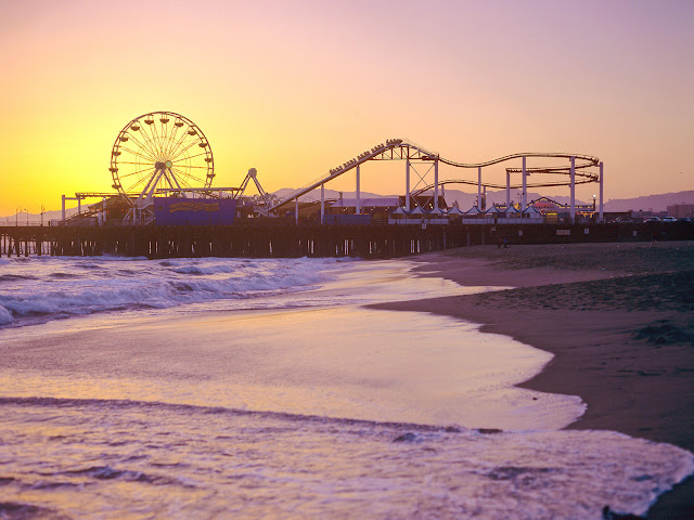 Santa Mônica Beach em Los Angeles