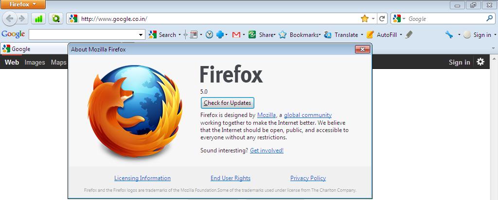 mozilla firefox mit google toolbar