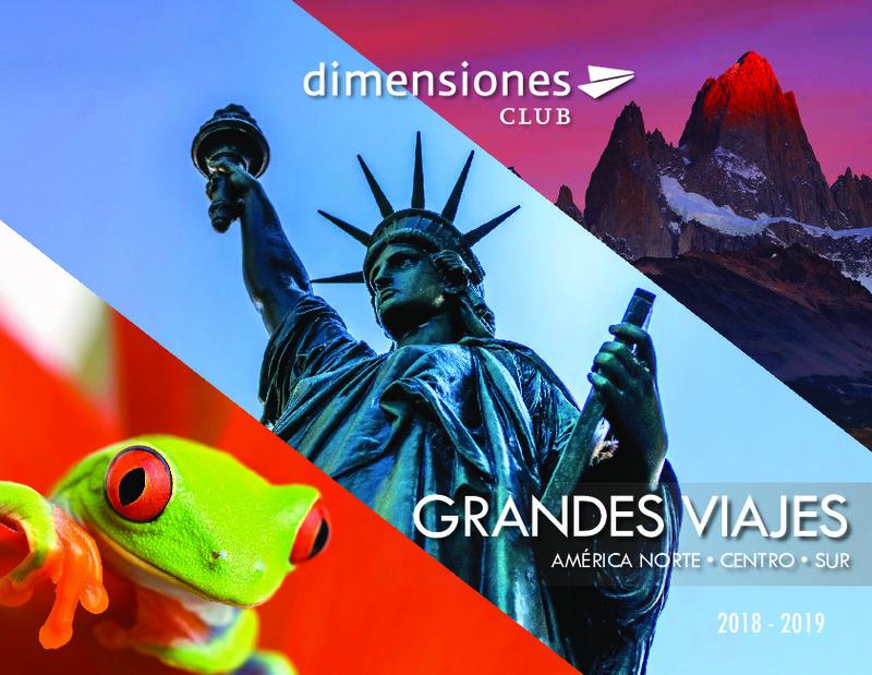 Catálogo Dimensionesclub Circuitos América del Norte 2018-19