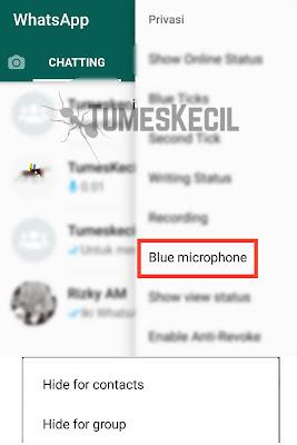 cara menghilangkan centang biru di gb whatsapp