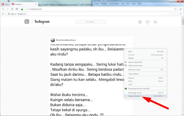 Cara Terbaru Upload foto Atau Video di Instagram Lewat Browser PC