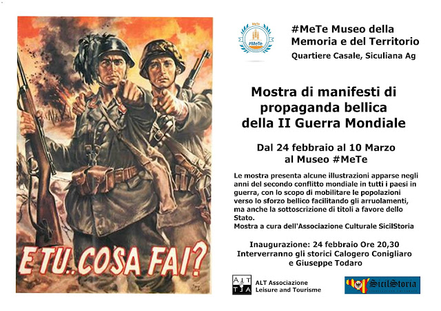 Mostra di manifesti di propaganda bellica. Museo #MeTe Siculiana