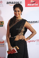 Sindhu looks fabulous in Black Saree designer choli at Mirchi Music Awards South 2017 ~  Exclusive Celebrities Galleries 040.JPG