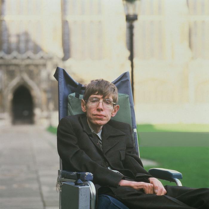 Британский физик–теоретик Стивен Хокинг, январь 1993 года, Кембридж