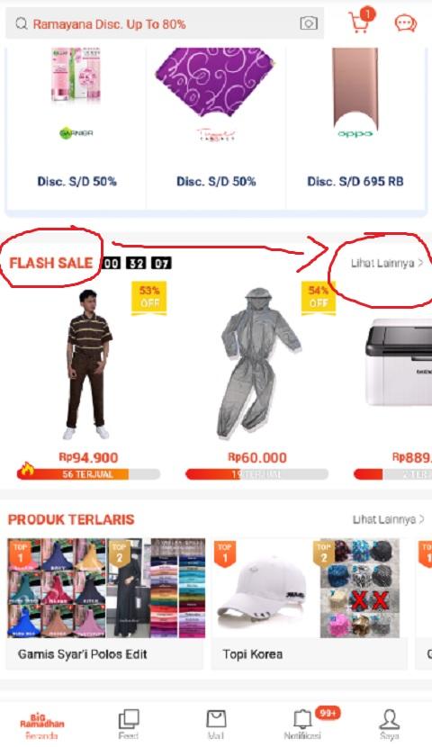 Menu Flash Sale Untuk Mencari Promo Ramadhan di Shopee