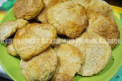 печенье на кефире ореховое готовое