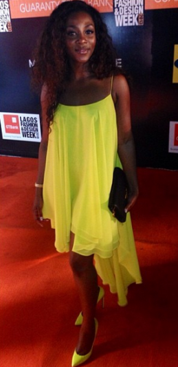 genevieve nnaji yellow dress