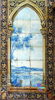 Plaza de España - Sevilla - Azulejo de Guipúzcoa: Bahía de Txinguri