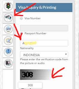 tutorial cek visa qatar