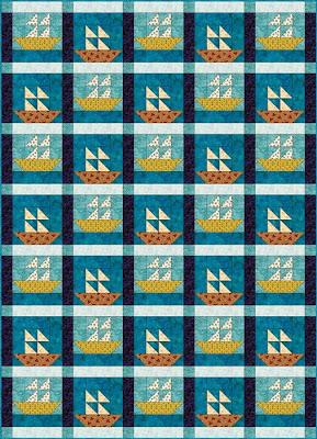 Quilt Inspiration: Free Pattern Day: Sailboats : quilt blocks free patterns - Adamdwight.com