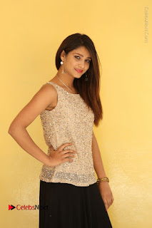 Tollywood Upcoming Actress Arthi Stills in Black Skirt at Plus 1 Movie Trailer Launch  0023.JPG
