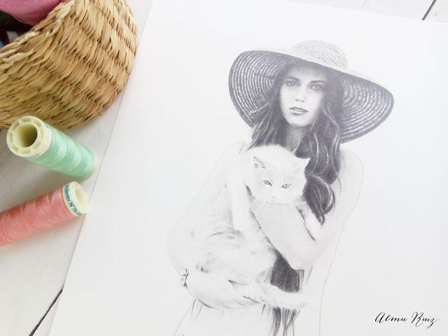 Dibujo realista hecho a lápiz