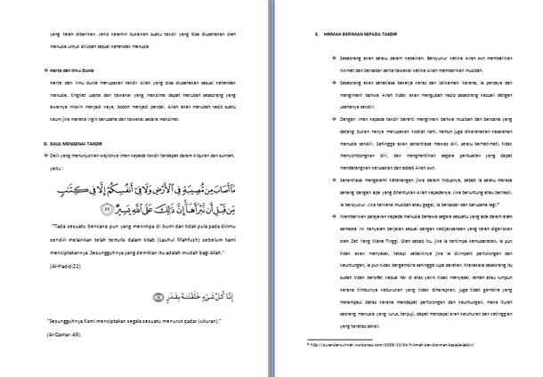 Contoh Makalah Tauhid Tentang Konsep Takdir dalam Agama Islam