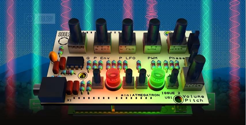 Video: miniAtmegatron: open source 8bit/chiptune, Arduino