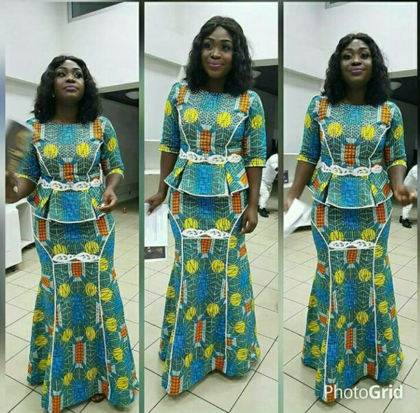 Beautiful Ankara skirt and blouse
