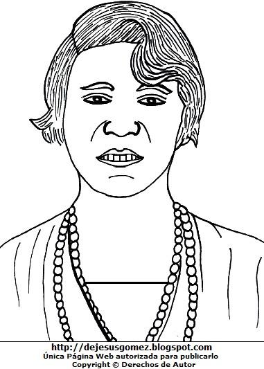 Imagen de Alfonsina Storni para colorear pintar imprimir. Dibujo de Alfonsina Storni de Jesus Gómez