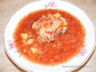 Supa de rosii cu carne retete culinare,
