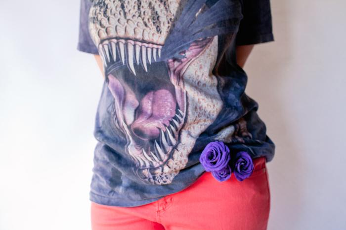 flowers in pant pocket