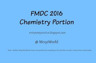 FMDC 2016 Chemistry MCQs