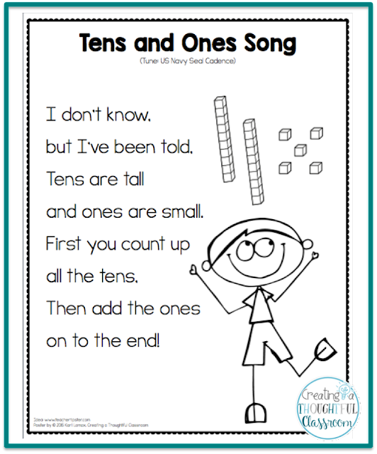 Teaching Place Value Tens And Ones Song Creating A Thoughtful