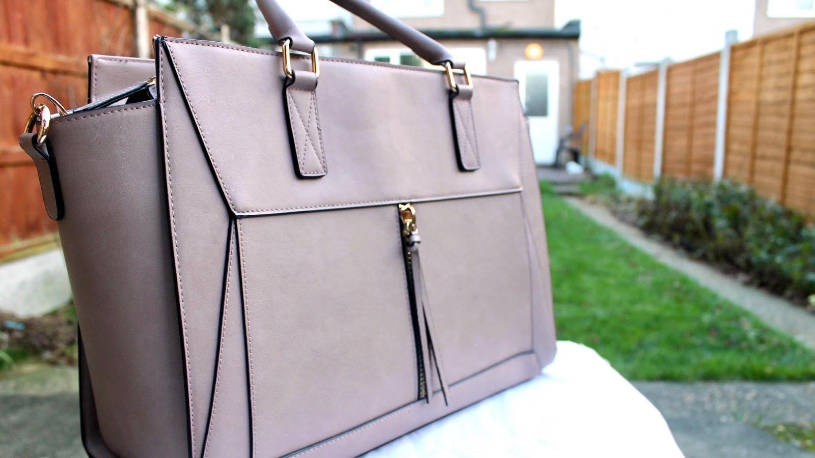 Large Nude Coloured Handbag