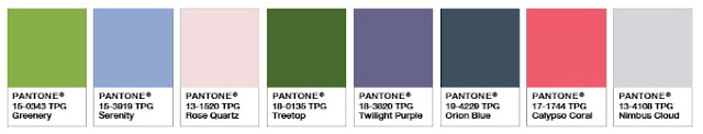 Pantone Colour Palette Colour of the Year Greenery