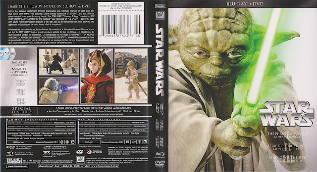 Star Wars: Trilogy - Episodes I-III (scan) Bluray Cover