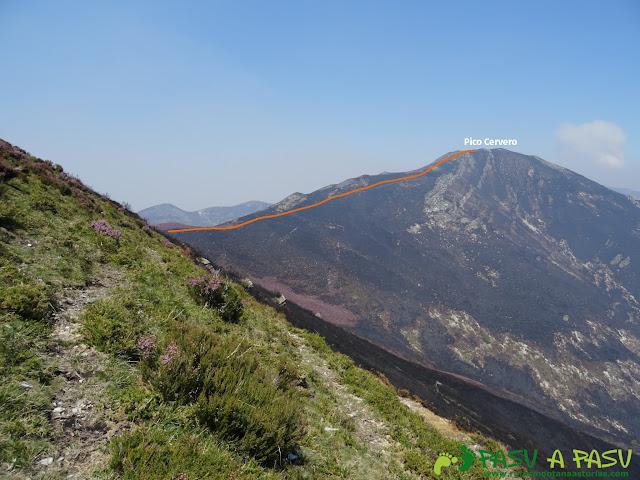Bordeando Peñas Altas para llegar al Pico Cervero o Tonón