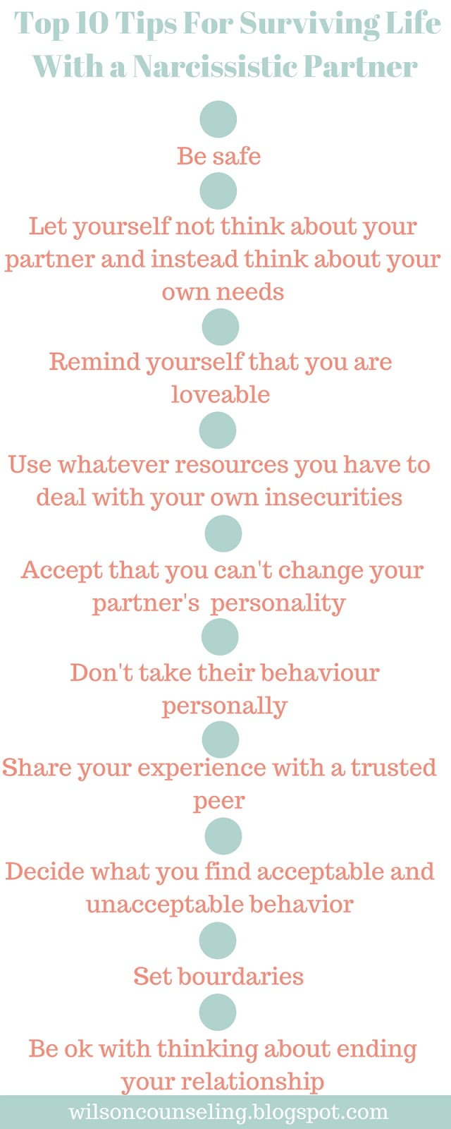 Top 10 Tips For Surviving Life With a Narcissistic Partner