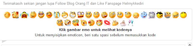 Cara Memasang Emoticon pada Komentar Blog