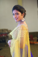 Actress Eesha in Yellow Choli Blue Ghagra at Darshakudu music launch 034.JPG