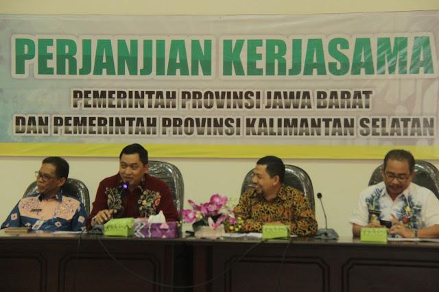 Kalsel dan Jawa Barat Teken Kerja Sama, Saling Adopsi Kemajuan Pembanguan Daerah