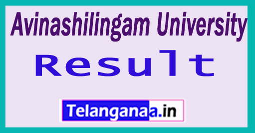 Avinashilingam University Results 2018